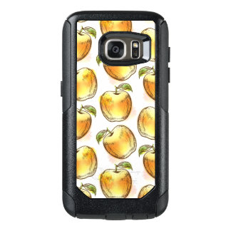 黄色いりんごが付いているパターン オッターボックスSamsung GALAXY S7ケース