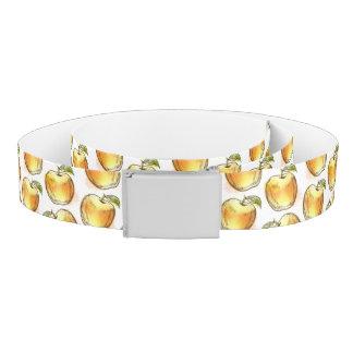 黄色いりんごが付いているパターン ベルト
