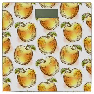 黄色いりんごが付いているパターン 体重計