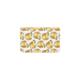 黄色いりんごが付いているパターン 名刺入れ
