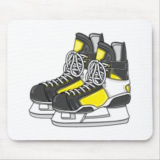 黄色いアイスホッケーのスケート マウスパッド