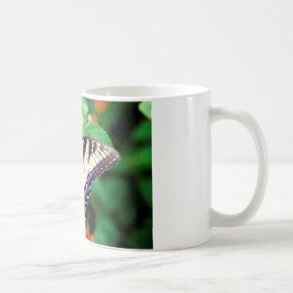 黄色いアゲハチョウ コーヒーマグカップ