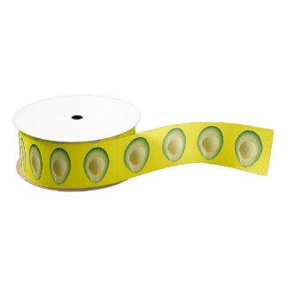 黄色いアボカドの花輪4Francesca グログランリボン