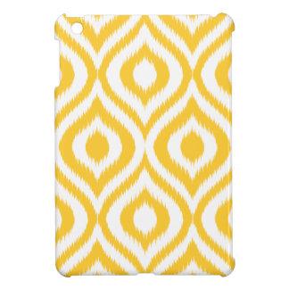 黄色いイカットのクラシックで幾何学的な民族のプリント iPad MINI カバー