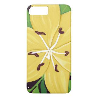 黄色いイースター・リリーのデジタル絵画の箱 iPhone 8 PLUS/7 PLUSケース