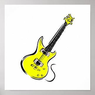 黄色いエレキギター音楽graphic.png ポスター