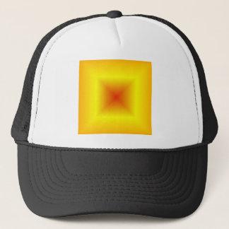 、黄色いオレンジ、正方形の勾配-赤い キャップ