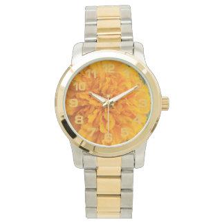 黄色いカーネーションの腕時計 腕時計