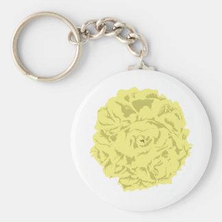 黄色いカーネーションの花 キーホルダー