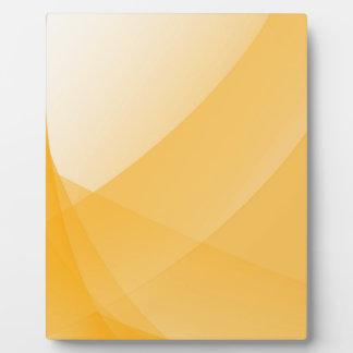 黄色いカーブ フォトプラーク