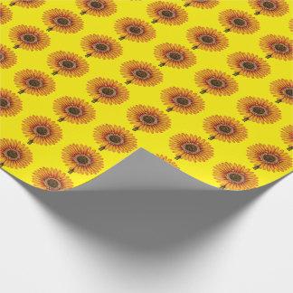 黄色いガーベラ ラッピングペーパー