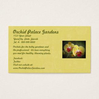 黄色いガ蘭-コチョウラン 名刺