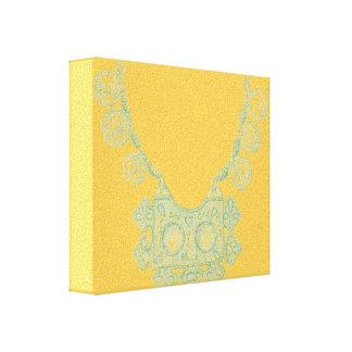 黄色いキャンバスのノルウェーの宝石 キャンバスプリント