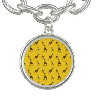 黄色いキリンパターン ブレスレット