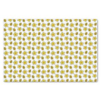 黄色いキンボウゲのデイジーの花のスケッチ 薄葉紙
