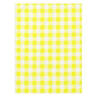 黄色いギンガムのレトロ テーブルクロス