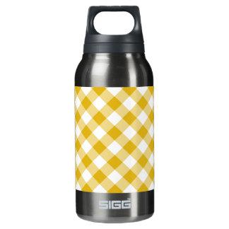 黄色いギンガム 断熱ウォーターボトル