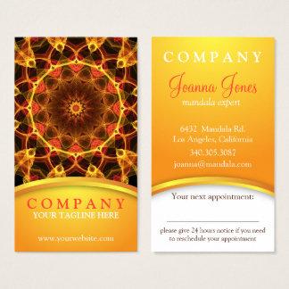 黄色いクロッカスの曼荼羅のアポイントメントカード 名刺