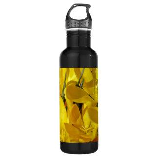 黄色いクロッカスの花 ウォーターボトル