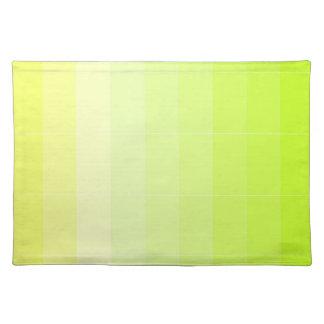 黄色いグラデーションだけ着色して下さい プレースマット