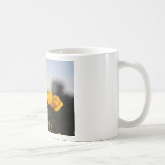 黄色いケシ コーヒーマグカップ