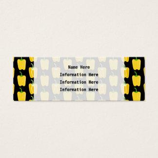 黄色いコショウパターン。 黒 スキニー名刺