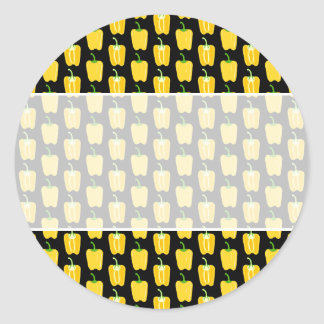 黄色いコショウパターン。 黒 ラウンドシール