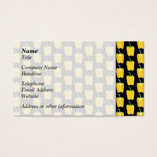 黄色いコショウパターン。 黒 名刺