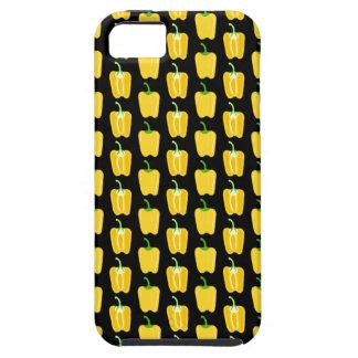 黄色いコショウパターン。 黒 iPhone SE/5/5s ケース
