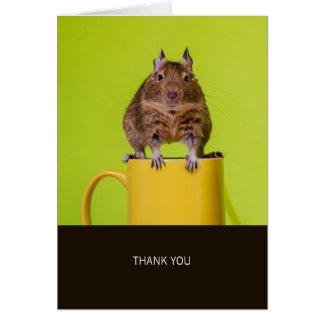 黄色いコップのDeguは感謝していしています カード