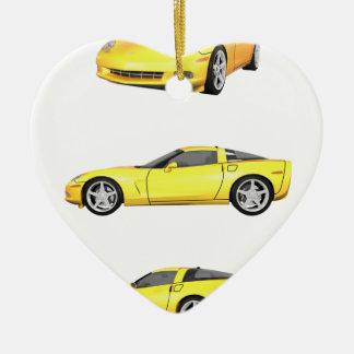 黄色いコルベット: セラミックオーナメント