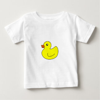 黄色いゴム製アヒル ベビーTシャツ