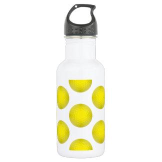 黄色いゴルフ・ボールパターン ウォーターボトル