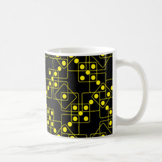 黄色いサイコロ コーヒーマグカップ
