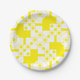 黄色いサイコロ ペーパープレート