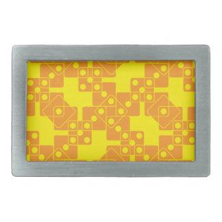 黄色いサイコロ 長方形ベルトバックル