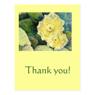 黄色いサボテンの花の花のギフト ポストカード