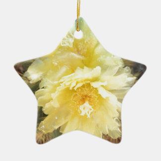 黄色いサボテンの花 セラミックオーナメント