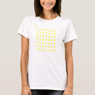 黄色いシェブロン Tシャツ