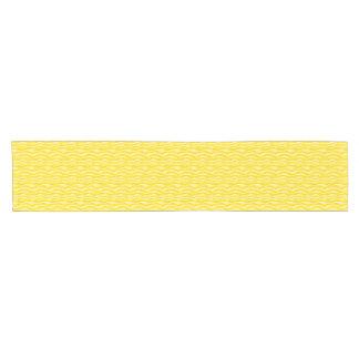 黄色いシマウマのストライプなパターン ショートテーブルランナー