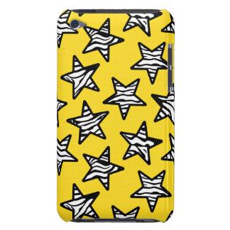 黄色いシマウマのプリントの星 Case-Mate iPod TOUCH ケース