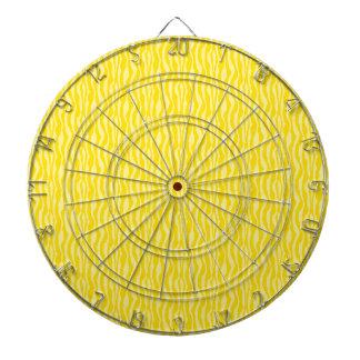 黄色いシマウマのプリントパターン ダーツボード
