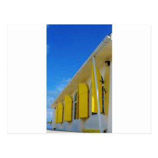黄色いシャッター ポストカード
