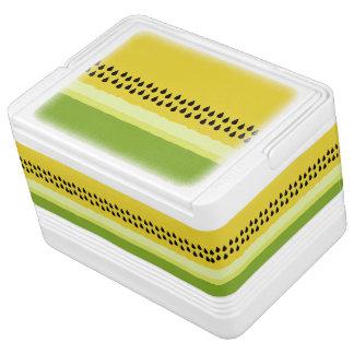 黄色いスイカの切れのイグルーのクーラーボックス IGLOOクーラーボックス