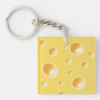 黄色いスイスチーズの質 キーホルダー