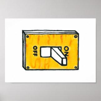 黄色いスイッチポスター ポスター