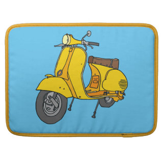 黄色いスクータ MacBook PROスリーブ