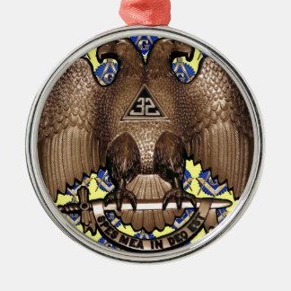 黄色いスコットランドの儀式の正方形及びコンパス メタルオーナメント