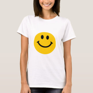 黄色いスマイリーフェイス Tシャツ