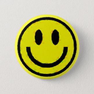 黄色いスマイリー 5.7CM 丸型バッジ